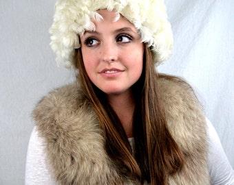 Wild 1960's White Maribou Feather Hat