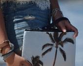 9 x 6 Palm Tree Gadget Bag - zipper pouch - Bag organizer