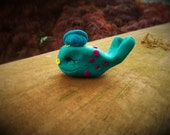 Sea Whale - a Whimsical Polymer Clay Art Doll or Cupcake Topper / Cake Topper Holidays