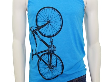 Bicycle| Unisex Lightweight Tank| Big Bike| Sport| Men's tank top| Cyclist| Bicyclist| Sport| Gym shirt| Gift for him and her.