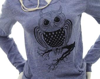 OWL bird | Women's soft lightweight classic pullover hoodie