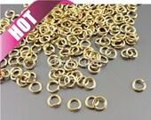 Best selling item / 10 grams 5mm 20 gauge Jump rings, connectors, links, jewelry making, craft supplies B005BBG-205 (bright gold, 5mm, 10G)