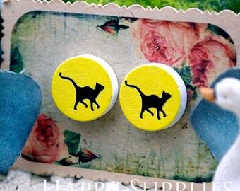 Buy 1 Get 1 Free - 20pcs 15mm (WC34) Round Handmade Photo Wood Cut Cabochon (Back White)