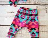 Made to Order Girls Spandex Leggings & Matching Headband Set