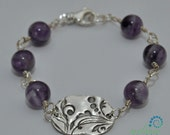 Handmade Silver & Amethyst Bracelet