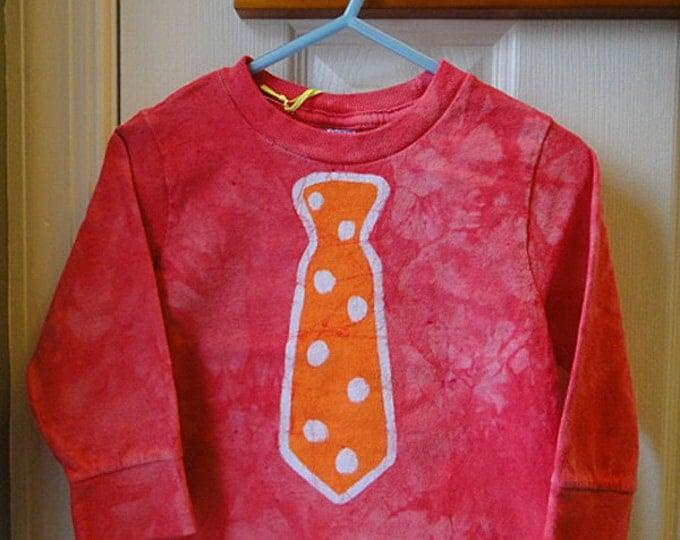 Kids Shirt with Tie, Kids Tie Shirt, Boys Tie Shirt, Necktie Shirt, Funny Kids Shirt, Funny Boys Shirt, Girls Tie Shirt (18 months)