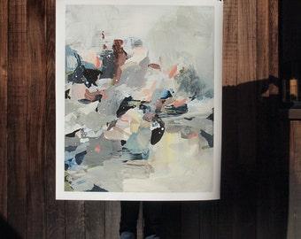 Flood .  extra large wall art . giclee print