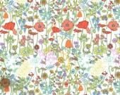 Liberty Tana Lawn Fabric - Liberty Japan Limited, Hello Kitty Wild Garden, Liberty Print Cotton Scrap, Kawaii Patchwork Quilt Fabric, 11f