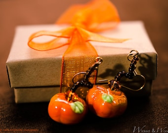 Pumpkin Earrings Thanksgiving Jewelry Autumn Fall Jewelry Harvest earring for Back to School