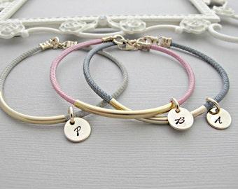 Monogram Bracelet, Initial Bracelet, Gold Bracelet, Monogrammed Bracelet, Gold Initial, Personalized Gift, Bracelets, Personalized Jewelry
