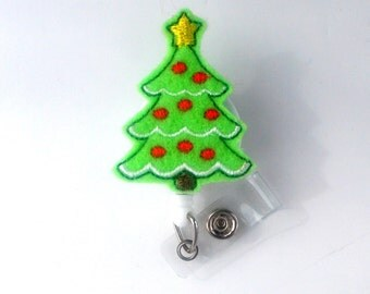 Christmas Tree II - Cute Badge Holder - Nurses Badge Holder - Holiday Badge Holder - Nursing Badge Holder - RN Badge Reel - Teacher Badge