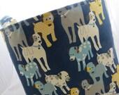 Fabric Organizer Storage Bin Container Basket  Premier Prints Woof Woof Natural/Navy 16 x 16 x 12+