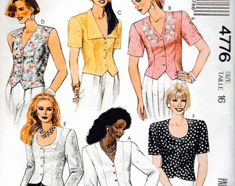 Mccalls 4776 women but you blouse  sleeve sew pattern
