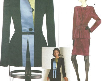 Vogue 2045 / Designer Sewing Pattern By Geoffrey Beene / Jacket Skirt Suit / Size 8 10 12