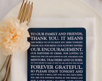 Wedding Thank You Card | Wedding Thank You Card | Thank You Card | Thank You Printable - Style TY5