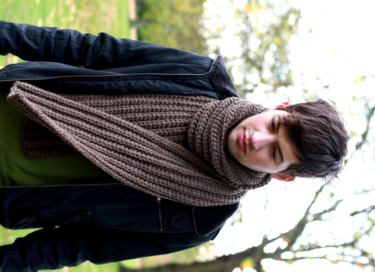 Scarfs Men Scarf And Casual On Pinterest Nice Scarves: Men's Scarf Chunky Scarf For Men Chunky Knit Scarf