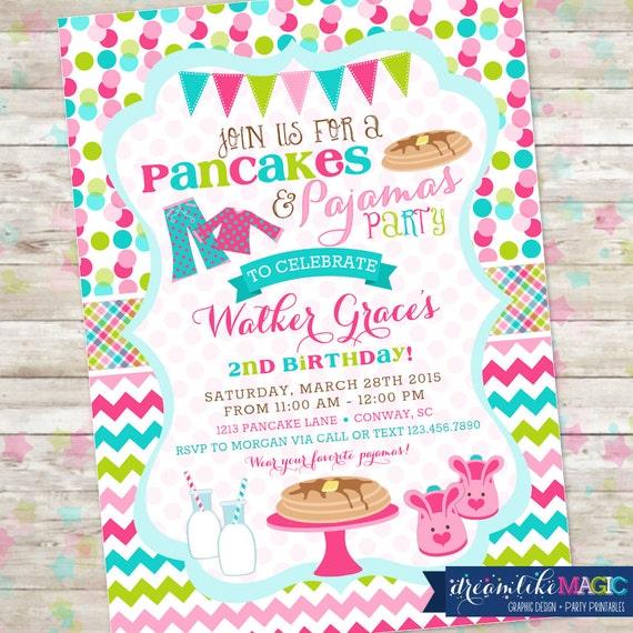 Pancakes and pajamas party pancakes pjs birthday party invite il570xn filmwisefo