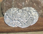 Sterling Silver Disc 26g 25mm Disc Paisley Pattern Blank Cutout for Shapes Enameling Metal Blanks Shape Form - 925