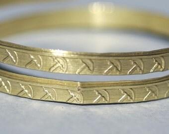 Ring Stock Shank 4.5mm Umbrellas Art Textured Metal Cane Wire - Rings Bracelets Pendants Metalwork Variety of metals