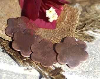 Flowers 23.5mm 6 Petal for Enameling Metalworking Stamping Texturing Soldering Blanks - 4 pieces