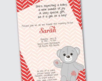 Baby Shower Invitation - Teddy Bear - DEPOSIT