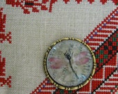 Pink Dragonfly Needle Minder - Brass frame
