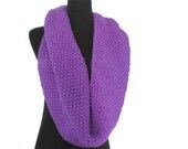 Purple Snood Cowl in Violet
