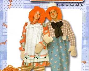 Raggedy Ann & Andy Costume Pattern - Simplicity 4854 - Size XS-XL FF