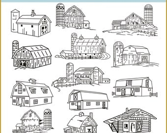 Digital Clipart Structures (50) PNG