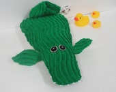 Plush Alligator/Fish - Quirky - Whimsical - Stuffed Children's Toy Animal - OOAK - Green Baby Nursery Decor - Baby Shower Gift - THYSS