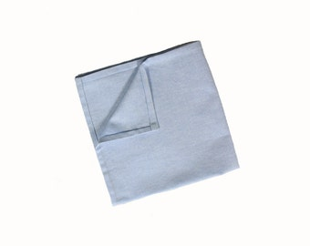 Florent - Blue Cotton Pocket Square