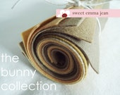 9x12 Wool Felt Sheets - The Bunny Collection - 8 Sheets of Felt