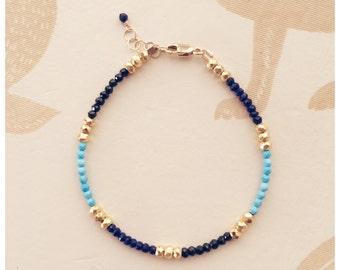 Turquoise & Lapis Bracelet