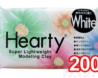 Padico White Hearty 200g Modeling Clay from Japan  - Figurines / Doll / Flower / Miniature Food 303107