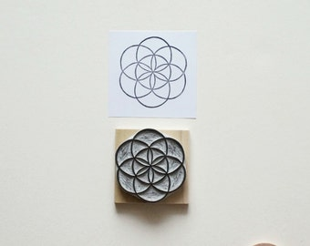 Sacred Geometry No. 5 - Hand Carved Rubber Stamp
