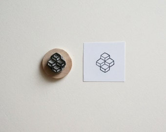 Sacred Geometry No. 7 - Hand Carved Rubber Stamp