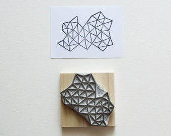 Crystal Configuration 01 - Hand Carved Stamp