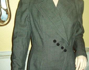 Fabulous Vintage 1940s Tailored Ladies Jacket from Richs Atlanta Tweed Vintage Jacket Large Vintage Tweed