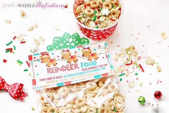Reindeer food christmas party bag toppers christmas reindeer food