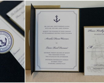 Nautical Theme Wedding Invitation