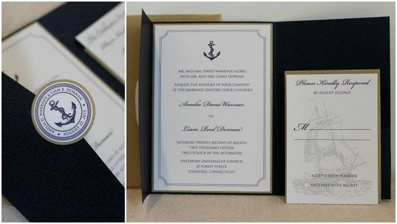 Nautical Theme Wedding Invitation – Nautical Theme Wedding Invitations