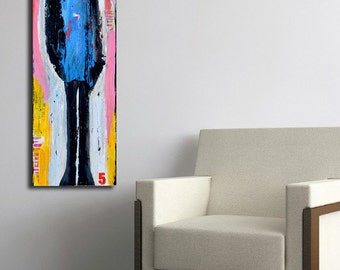 Abstract figure Painting on wood