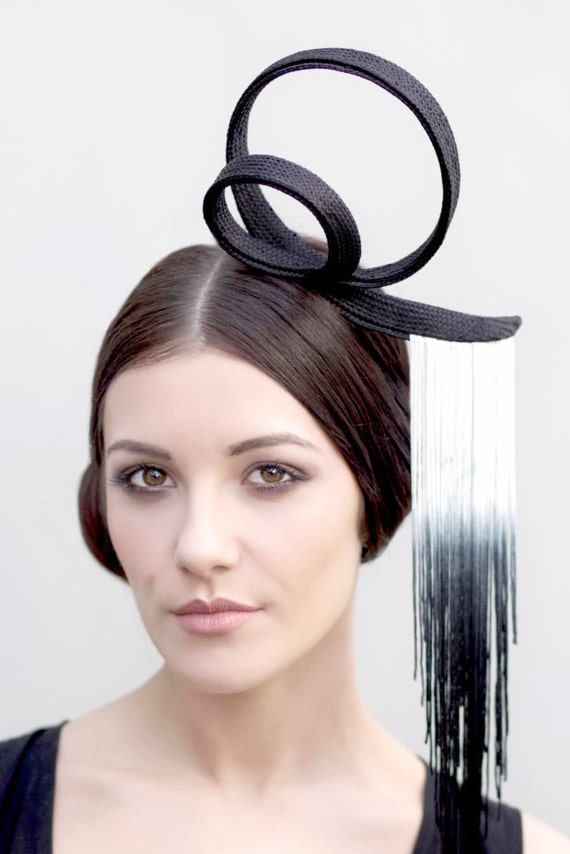 Couture Headband, High Fashion Headpiece, Melbourne Cup or Ascot Hat - Trixi