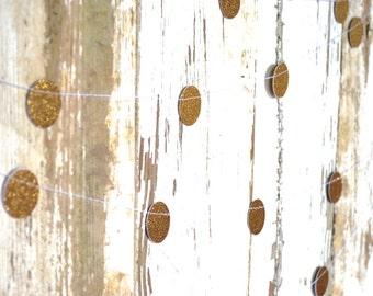 Glitter Gold Confetti Circles Garland