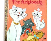 """Little Golden Book First Addition """"The Aristocats""""  #D122 Authorized Edition"""