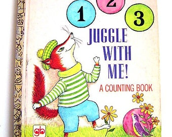 """Little Golden Book First Addition  """"1 2 3 Juggle With Me!"""" #594 a counting book"""