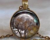 Autumn Equinox pendant, Harvest Moon pendant Pagan pendant, full moon Wiccan jewelry Wiccan pendant Mabon pendant key chain