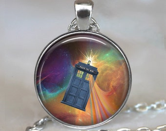 Tardis Time Wave pendant, Tardis jewelry, Dr Who jewelry, Tardis pendant Dr Who pendant, Whovian jewelry Tardis keychain key chain