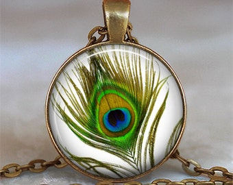 Eye of the Peacock pendant, peacock necklace, peacock jewelry peacock feather pendant peacock keychain key chain