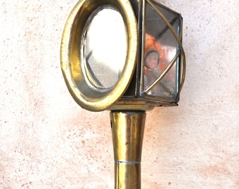 Antique French Brass Carriage Lamp